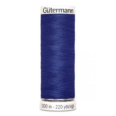 Blauwe naaigaren Gütermann 218