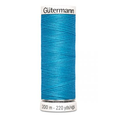 Blauwe naaigaren Gütermann 197