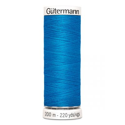 Blauwe naaigaren Gütermann 386