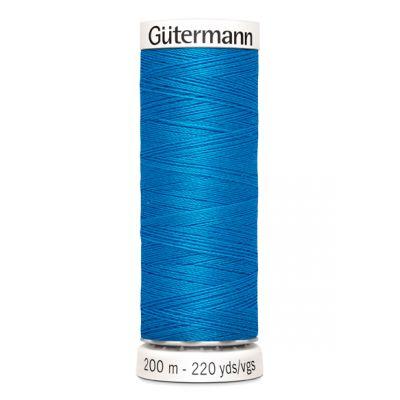 Fil à coudre bleu Gütermann 386