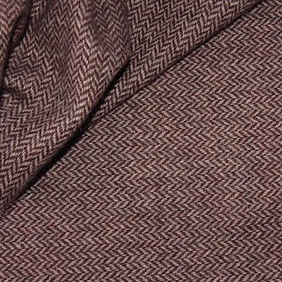 Tissu en laine à chevrons bruns