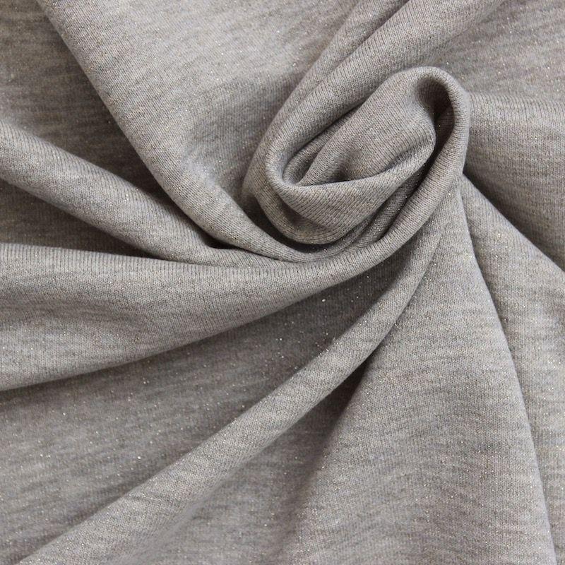 tissu sweat molletonn effet paillet gris clair. Black Bedroom Furniture Sets. Home Design Ideas