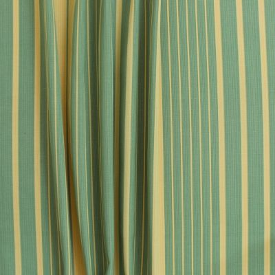 Tissu d'ameublement à rayures jaunes et vertes