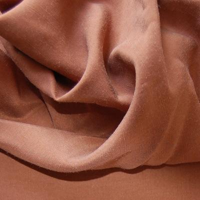 100% zijde effen bruin
