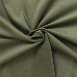Tissu en velours côtelé vert olive