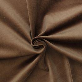 Tissu en velours côtelé brun châtaigne