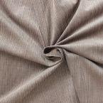 Tissu en velours côtelé chiné aubergine et beige