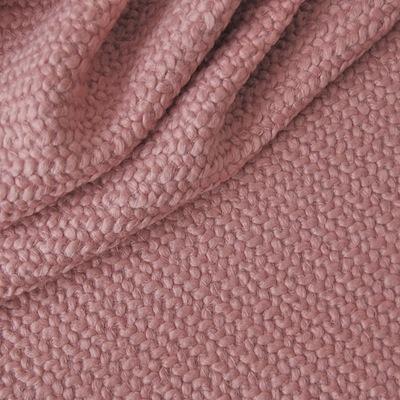 Tissu type lainage rose