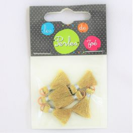 Iron-on patch gold-coloured star
