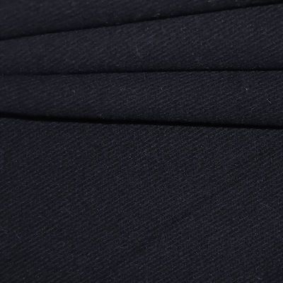 Tissu en laine noir