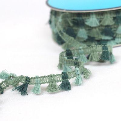 GALON mini flochette vert