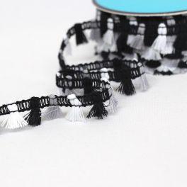 GALON mini flochette noir