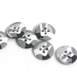 Bouton camouflage 18mm