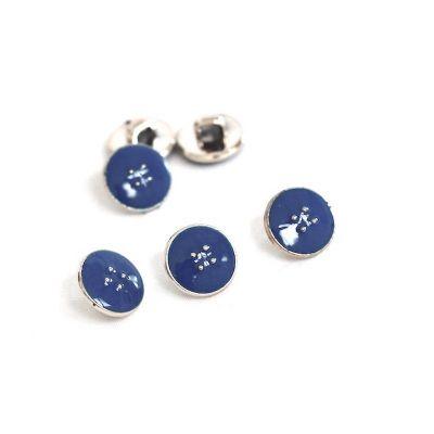Bouton émaillé 11mm bleu