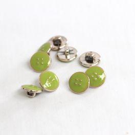 Bouton émaillé 11mm vert