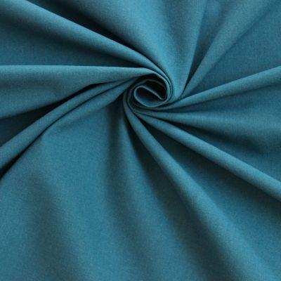 Tissu cretonne uni bleu canard