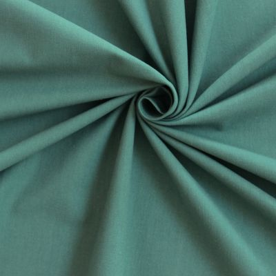 Tissu cretonne uni vert sauge