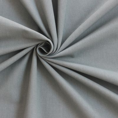 Tissu cretonne uni gris souris