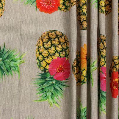 Tissu d 39 ext rieur imprim ananas for Tissu deperlant exterieur