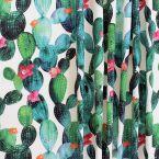 Tissu d'extérieur imprimé cactus fleuri