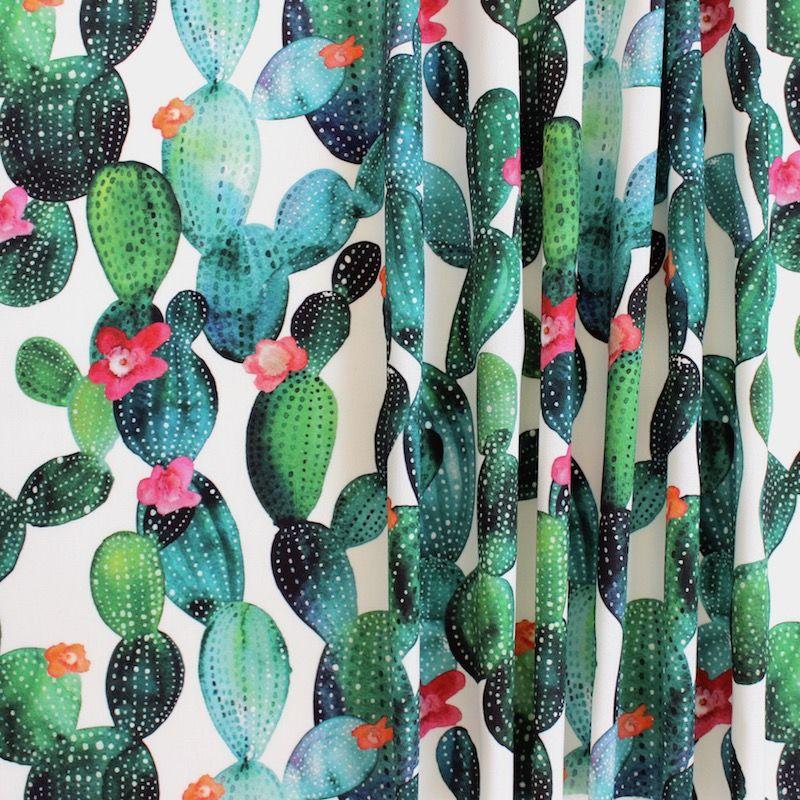 tissu d 39 ext rieur imprim cactus fleuri. Black Bedroom Furniture Sets. Home Design Ideas