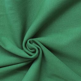 Bord côte uni vert foncé