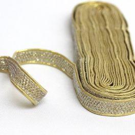 Galon scintillant doré