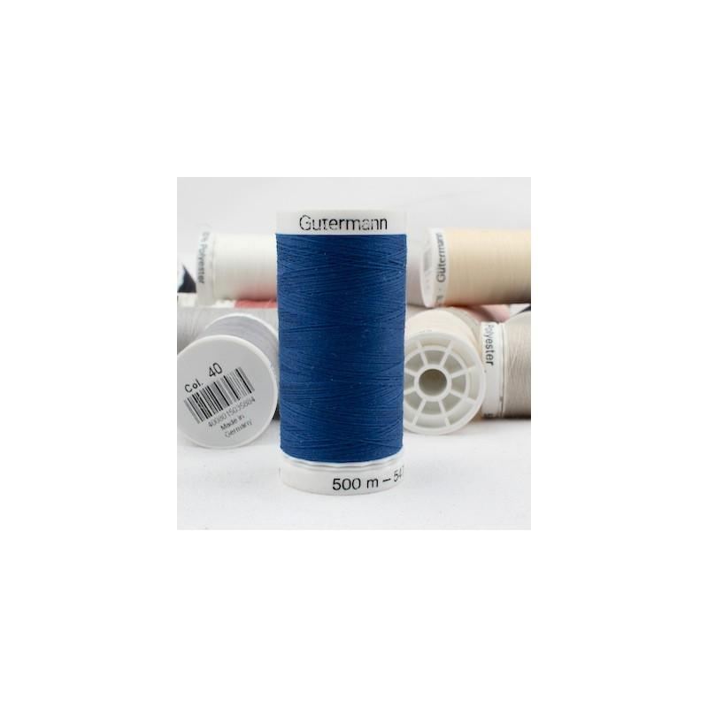 Blue sewing thread