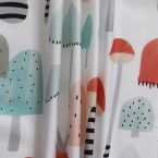 100% Cotton fabric with multicolored animals