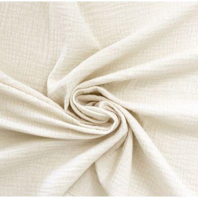 Tissu double gaze de coton écru