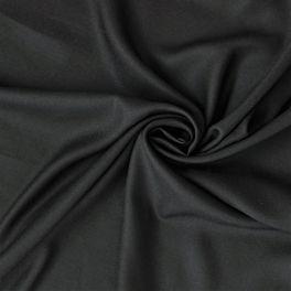 Twill fluide 100% viscose uni noir