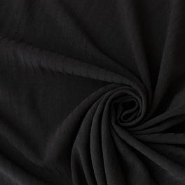 Stretchable polyester fabric black