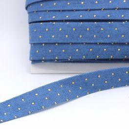 Biais jeans à clous bleu clair