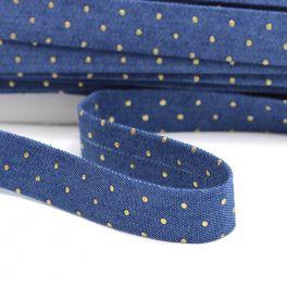 Biais jeans à clous bleu