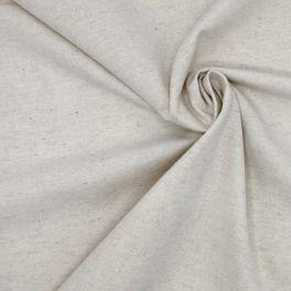 Tissu en lin et coton beige clair