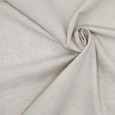 Sand-colored fabric in linen and cotton