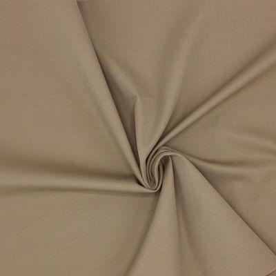 Tissu en coton et élasthanne gris/beige