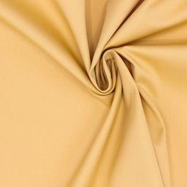 Tissu en coton et élasthanne moutarde
