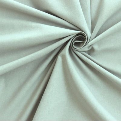 Tissu cretonne uni vert d'eau