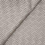 Simili cuir à motif tressé aspect métallisé gris argent