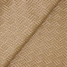 Simili cuir à motif tressé aspect métallisé cuivré