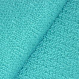 Simili cuir à motif tressé turquoise