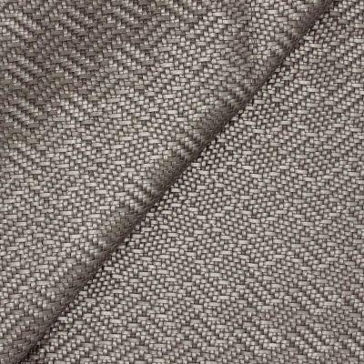 Simili cuir à motif tressé aspect métallisé gris titane