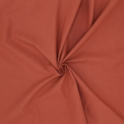 Tissu cretonne uni tomette