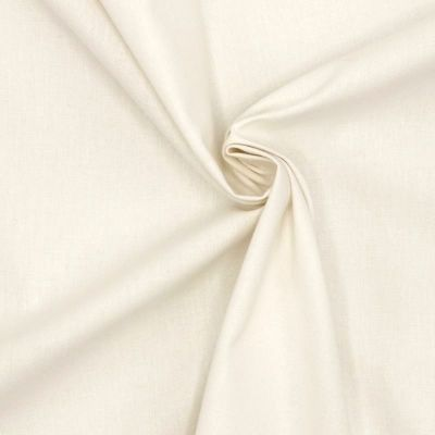 Tissu cretonne uni  blanc cassé