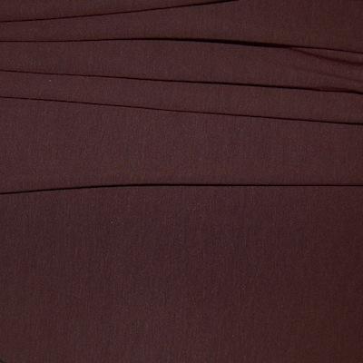 Tissu en jersey épais uni Brun