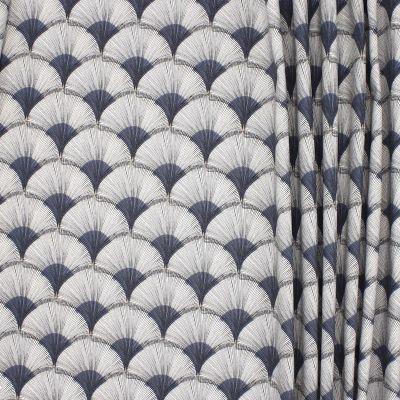 Katoenstof met Papegaaien op grijs achtergrond