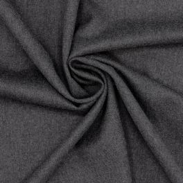 Wool and polyamide fabric black