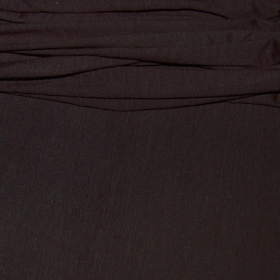 Tissu en jersey fin uni Brun