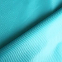 Blue impermeable polyester fabric